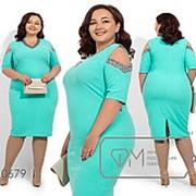 Нарядное платье женское приталенного кроя -Ментол фото