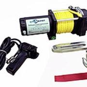 Лебедка электрическая СТОКРАТ QX 6.0 LS, 12V, 2.0 h.p. с синтетическим тросом удлиненным стальным барабаном. фото