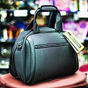 Женская сумка-саквояж POLO KING 40х18х30см темно-серая фото