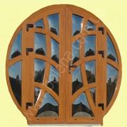 Евроокна с декоративными термопанелями и дутым стеклом фотография
