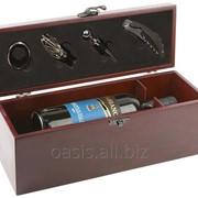 """Подарочный набор для вина """"Венге"""" (арт. 689819) фото"""