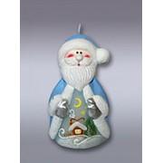Свеча Дед Мороз (хамелеон) d=67 мм, h=103 мм, t=2 ч фото