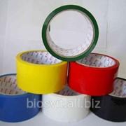 Клейкая лента упаковочная 48мм/50м цветная фото