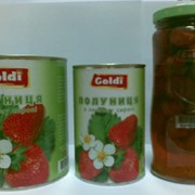 Клубника консервированная в сахарном сиропе тм Голди фото