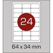 Этикетки самоклеящиеся 64х34 мм c закругленными углами фото