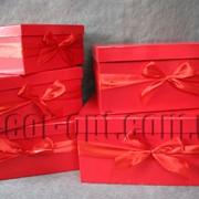 Коробки красные 5 шт 4235 фото