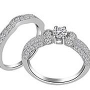 Кольцо классическое с бриллиантами SI1/G 1.90 Ct фото