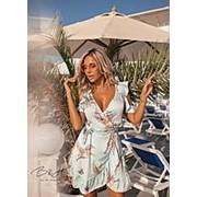 Платье женское с рюшами ТМ B&H- Голубой фото