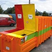 Двухкамерный мобильный прессконтейнер MBT для макулатуры, пленки, ПЭТ тары и других отходов. фото