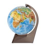 Глобус физический рельефный, 21 см, на треугольной подставке, (Глобусный мир) фото