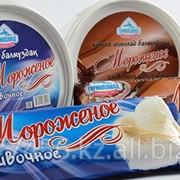 Мороженое сливочное и шоколадное, с жирностью 10%, весом 4 кг, 1 кг и 450 грамм фото