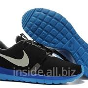Кроссовки Nike Roshe Run NM BR нубук Black/Blue 43 фото