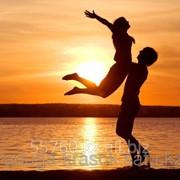 Картина по номерам Влюбленные на закате фото