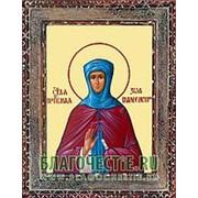 Благовещенская икона Зоя Вифлеемская, святая преподобная, копия старой иконы, печать на дереве Высота иконы 11 см фото