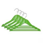 Вешалка подростковая, 33,5 х 16 х 1,2 см,ТМ МД, одежная, зеленая, (4 шт) Артикул RE09483/4 фото