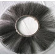 Щётка дисковая металлический ворс 120*550, чёрный металл. фото