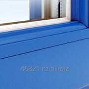 Синий штапик на одинарное стекло фото