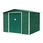 Хозблок Эван D (2,45х2,67х2,02м) темно-зеленый с бежевым кантом фото