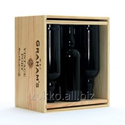 Ящик для вина на 6 бутылок с перегородками фото
