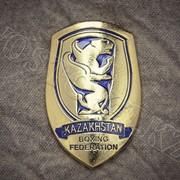Металлический значок Kazakhstan Boxing Federation фото