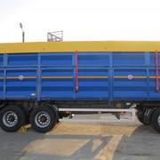 Прицеп Krone бортовой с кузовом-зерновозом фото