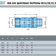 Цанговый патрон ER16/20/25/32 HSK-E40 фото