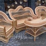 Плетеный набор мебели Вышитый фото