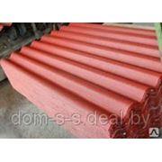 Шифер красно-коричневый восьмиволновой 1750х1130мм. фото