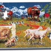Развивающий коврик Puzzle World Животные 54 эл 120PM-B-PN фото