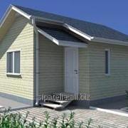Проект одноэтажного дачного дома Шалет, 23,13 кв.м. из SIP панелей фото