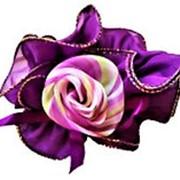 "Резинка 785257 BBox для волос d=11см с накладкой ""цветок"" цветная mix в уп. 10 шт. ( цена за 1 шт.) фото"