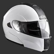 Шлем снегоходный Solid White M фото