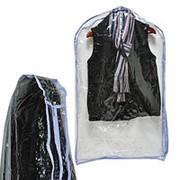 Чехол для верхней одежды 60*100*10 см ПВХ прозрачный фото