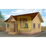 Дом каркасно-щитовой Проект №15 6х8 с крыльцом фото