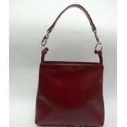 Бордовая маленькая женская кожаная сумочка М 35/3 фото