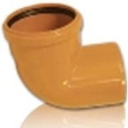 Колено ПВХ ф160 для канализационных труб фото
