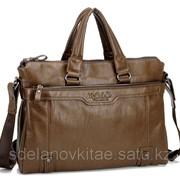Мужской кожаный портфель Polo фото