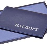 Обложка для паспорта РФ из искусственной кожи (к/ж), 140х100 мм, пластиковые карманы фото