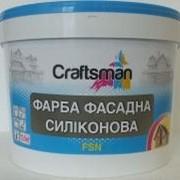 Краска силиконовая фасадная, белая, Craftsman FSN фото