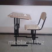 Комплект школьной мебели регулируемый по высоте фото