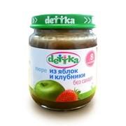 Пюре яблоко-клубника «dettka» без сахара 0,100 л фото