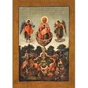Мастерская копий икон Живоносный Источник Богородица, копия старинной иконы Божьей Матери на иконной доске (ручная работа) Высота иконы 12 см фото