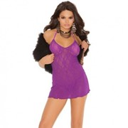 Фиолетовое кружевное платьице E-1574 фото