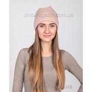 Зимняя шапка чулок бежевый фото