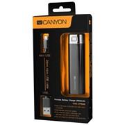 Портативное зарядное устройство CANYON CNE-CPB26B Чёрный фото