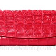 Сумка-клатч из кожи крокодила CBM 18 T Red фото