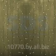 """Гирлянда """"Светодиодный Дождь"""" 2х1,5м, постоянное свечение, прозрачный провод, 220В, диоды ТЁПЛО-БЕЛЫЕ фото"""