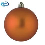 Шар матовый диаметр 10 см, оранжевый, 06726 фото