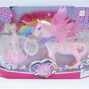 Набор кукла с лошадью. Коробка с окном фото