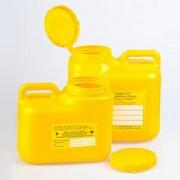 Емкость-контейнер для сбора острого инструмента кл. Б 6,0 л (желтый) Олданс фото